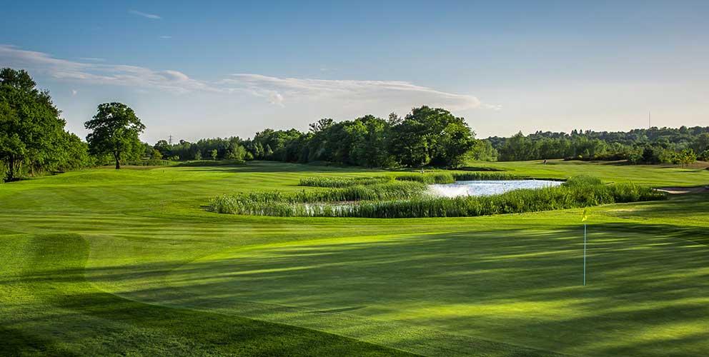 Golf course lake