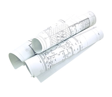 Estates maps rolled up
